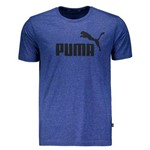 Camiseta Puma Essentials Heather Azul Mescla