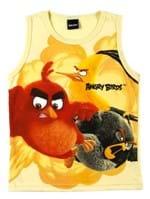 Camiseta Regata Angry Birds Infantil para Menino - Amarelo