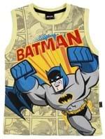 Camiseta Regata Batman Infantil para Menino - Amarelo