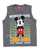 Camiseta Regata Disney Baby Infantil para Menino - Cinza