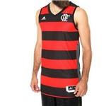 Camiseta Regata Flamengo Adidas de Basquete I Rubro-Negra 2015 2016 AI4775