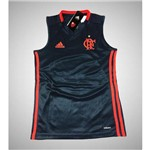 Camiseta Regata Flamengo Adidas Infantil Juvenil Treino 2016 Cinza