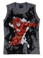Camiseta Regata Infantil para Menino Justice League Cinza