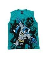 Camiseta Regata Infantil para Menino Justice League Verde