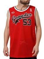 Camiseta Regata Masculina Gangster Vermelho