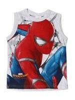 Camiseta Regata Spider Man Infantil para Menino - Cinza