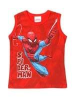 Camiseta Regata Spider Man Infantil para Menino - Vermelho
