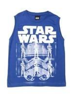 Camiseta Regata Star Wars Infantil para Menino - Azul