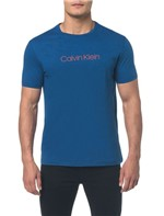 Camiseta Regular Basica Flame Mescla Azul Médio Camiseta Regular Basica Flame Mescla - Azul Médio - PP