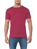 Camiseta Regular Basica Flame Mescla Rosa Escuro Camiseta Regular Basica Flame Mescla - Rosa Escuro - PP