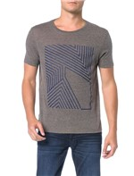 Camiseta Regular Calvin Klein Gaze Mescla - P