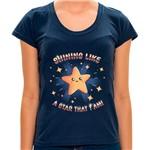 Camiseta Shining Like a Star - Feminina MA - Camiseta Shinning Like a Star - Feminina - P