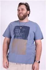Camiseta Silk For All Plus Size Cinza Chumbo P