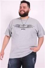 Camiseta Silk Frontal Plus Size Cinza P