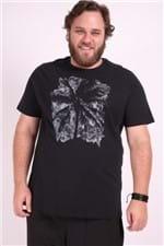 Camiseta Silk Plus Size Preto P