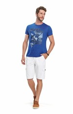 Camiseta Slim Adulto Azul - P