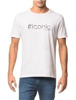 Camiseta Slim Bordado e Est Imita Avesso - Branco 2 - GG