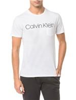 Camiseta Slim Calvin Klein Sobreposto Bo - Branco 2 - PP