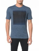 Camiseta Slim com Estampa Blue - PP