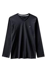 Camiseta Slim Decote V Enfim Preto - G