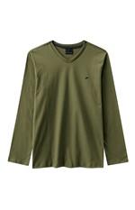 Camiseta Slim Decote V Enfim Verde Musgo - G