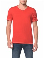 Camiseta Slim Estampa Square - PP