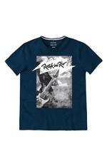 Camiseta Slim Estampada Rock In Rio® Enfim Azul Escuro - G