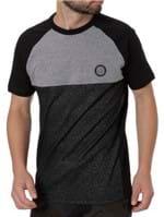 Camiseta Slim Fit Manga Curta Masculina Occy Cinza/preto