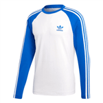 Camiseta 3 Stripes Ls Branca+azul G
