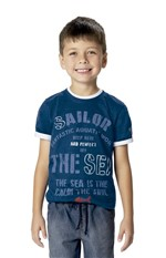 Camiseta Texturizada Menino Malwee Kids Azul Escuro - 2