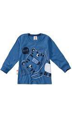 Camiseta Tigre Menino Zig Zig Zaa Azul Claro - 1