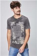 Camiseta Tingida Estampa Floral