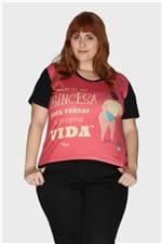 Camiseta Toni Princesa Plus Size Rosa-50