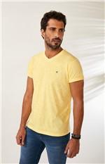 Camiseta Tradicional em Botonê Malwee Amarelo - M