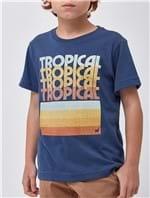 Camiseta Tropical Boys Azul Tamanho 2