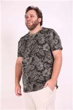 Camiseta Tropical Plus Size Verde P