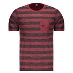 Camiseta Umbro Stripe Vermelha e Preta