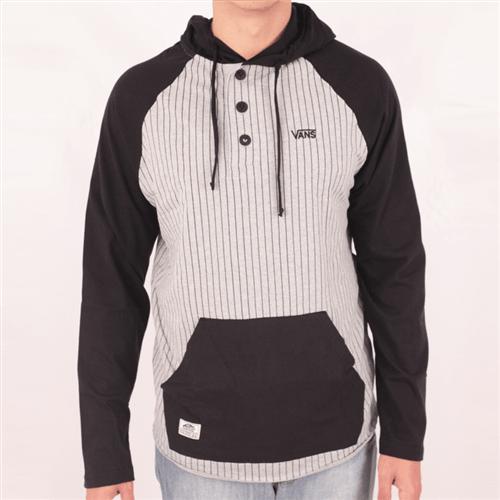 Camiseta Vans Hooded Henley Cinza/preto M