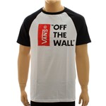 Camiseta Vans Off The Wall Raglan White (M)