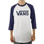 Camiseta Vans Raglan Classic White/Royal (P)