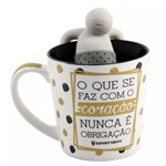 Caneca 350ml C/ Infusor P/ Chá o que se Faz