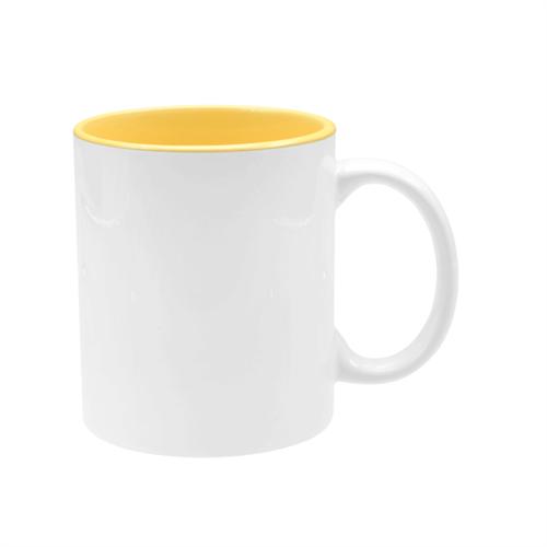 Caneca Branca com Interior Amarelo UNIDADE