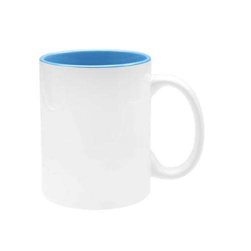 Caneca Branca com Interior Azul Claro UNIDADE