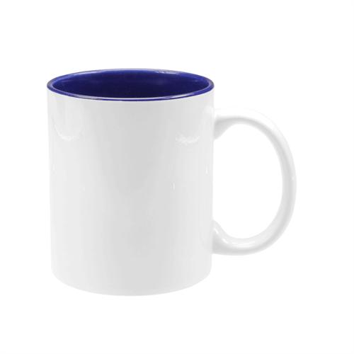 Caneca Branca com Interior Azul UNIDADE