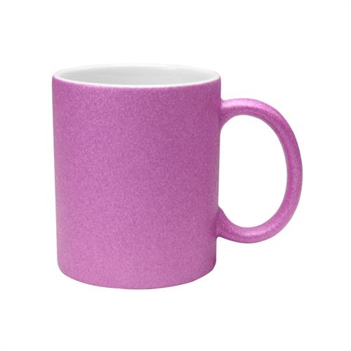 Caneca com Glitter para Sublimação - Rosa Unidade