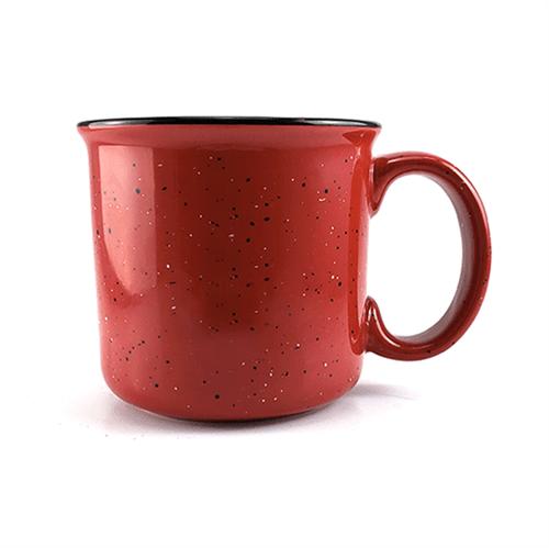 Caneca de Cerâmica Tipo Agatha - Vermelha