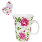Caneca de Porcelana Flores Essence 320ml