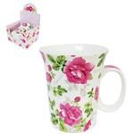 Caneca de Porcelana Flores Essence 320ml