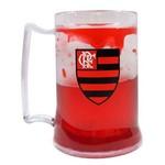 Caneca Gel Flamengo Escudo 400 Ml Gel Vermelho