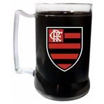 Caneca Gel Preto 400ml Escudo - Flamengo